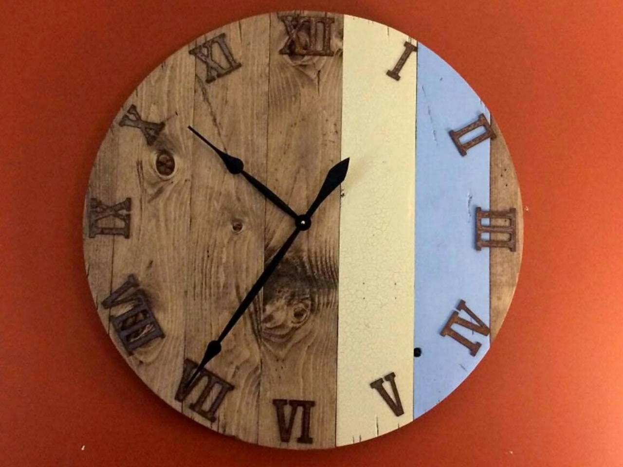 How To Make 36 Large Rustic Wall Clock Video By Jim