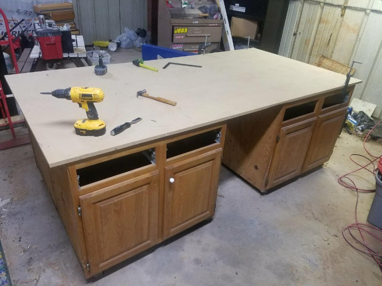 and custom quick jays cabinet woodworking tool workbench easy creations