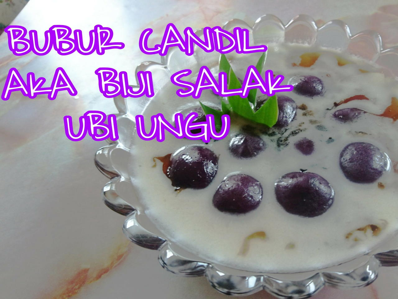 Resep Bubur Candil Aka Biji Salak Ubi Ungu Video Oleh Dapur Craftlog